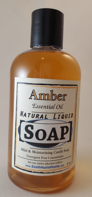 Amber Natural Liquid Soap 8oz