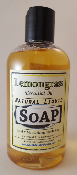 Lemongrass Natural Liquid Soap 8oz Concentrate