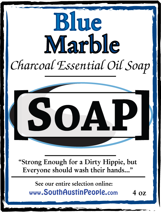 Blue Marble Charcoal Essential Oil Bar SoAP