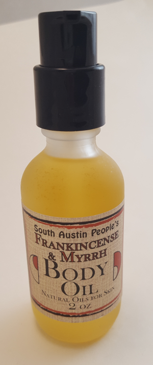 Frankincse & Myrrh & Sandalwood Body Oil -2oz