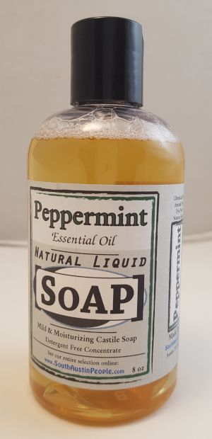 Peppermint Natural Liquid SoAP 8oz Concentrate