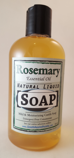 Rosemary natural Liquid Soap 8oz Concentrate